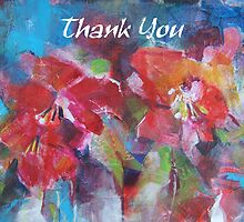 Thank You Greeting Cards - Art - Flowers by Ballet Dance-Artist
