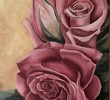 Pink roses by Hayley Huckson