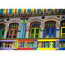 Colorful Building in Little India Photographic Print