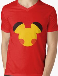 Electric Mouse Mens V-Neck T-Shirt