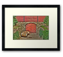 Wine at the Cellar Door Framed Print