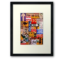 Signs Framed Print