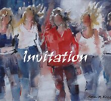 Invitation Greeting Cards - Art - Girls - Friends by Ballet Dance-Artist