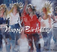 Happy Birthday Greeting Cards - Art - Girls - Friends by Ballet Dance-Artist