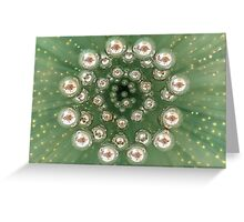 Green baubles Greeting Card