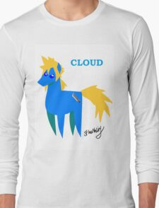 Cloud - BBBFF Version (FFVII & MLP) Long Sleeve T-Shirt