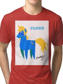 Cloud - BBBFF Version (FFVII & MLP) Tri-blend T-Shirt
