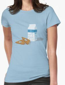 Milk & Triforce Cookies Womens Fitted T-Shirt