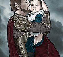 Odin and young Loki by Alessia Pelonzi