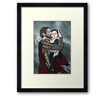 Odin and young Loki Framed Print