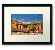San Elizario Hacienda Framed Print