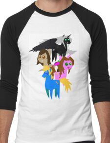 FFVII Cast (In BBBFF Version Of MLP) Men's Baseball ¾ T-Shirt