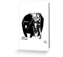 Beor and Girl Greeting Card