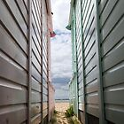 View Between the Beach Huts by Nigel Bangert