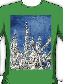 Cherry Blossoms on Blue T-Shirt