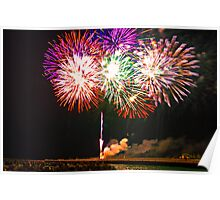 Fish Day Fireworks Poster