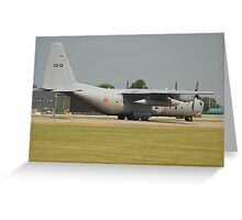 Belgian Air Force C130H Greeting Card