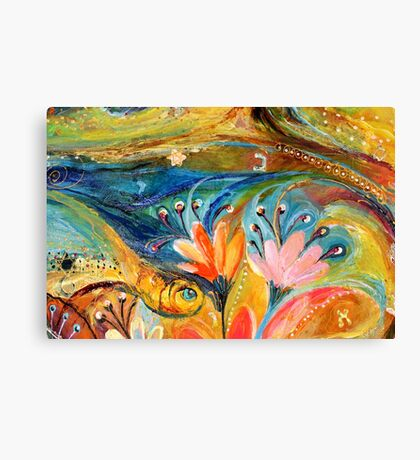 Original painting fragment 08 Canvas Print