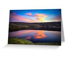 Marsden Moor Sunset Greeting Card