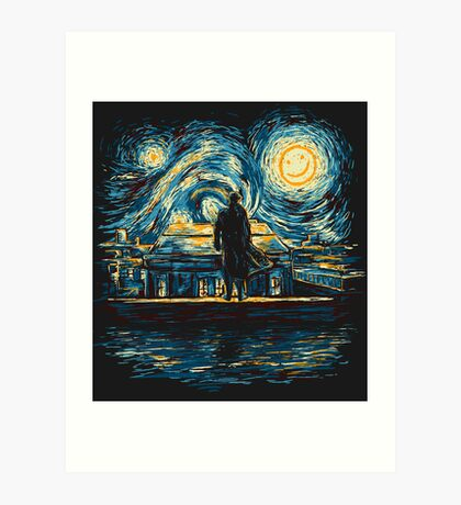 Starry Fall (Sherlock) Art Print