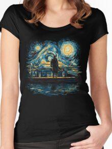Starry Fall (Sherlock) Women's Fitted Scoop T-Shirt