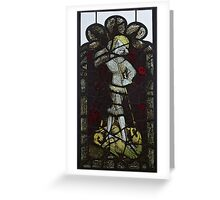 Stained Glass, George & The Dragon, Burrell Collection Greeting Card