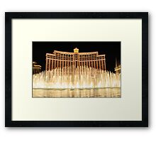 The fountains at Bellagio Framed Print