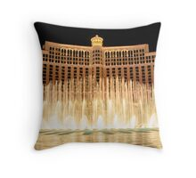 The fountains at Bellagio Throw Pillow