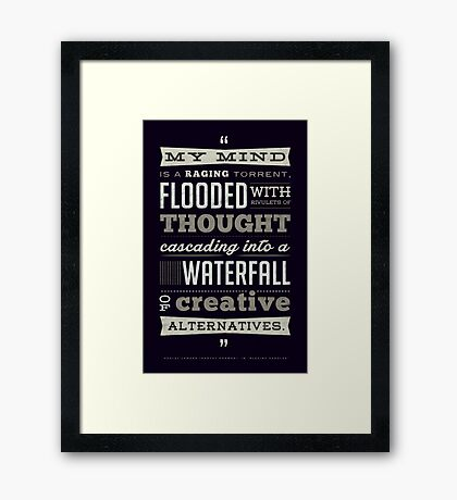 Funny Classic Movie Quote typography from Blazing Saddles by Harvey Korman Framed Print