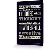 Funny Classic Movie Quote typography from Blazing Saddles by Harvey Korman Greeting Card