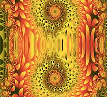 Autumn Cheer, fractal abstract art by walstraasart