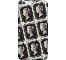 Penny Black Stamp (1d) 1840 iPhone Case/Skin