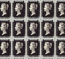 Penny Black Stamp (1d) 1840 by Jovan Djordjevic