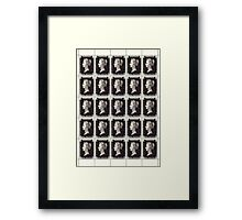 Penny Black Stamp (1d) 1840 Framed Print