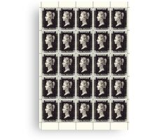 Penny Black Stamp (1d) 1840 Canvas Print