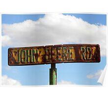 John Deere Road Poster
