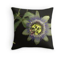 Passiflora Bloom Throw Pillow