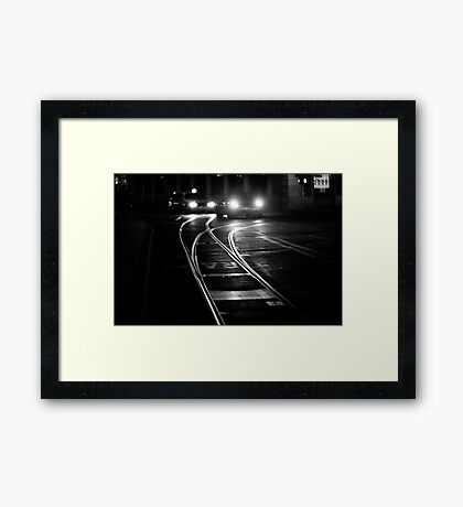 the lines of night Framed Print