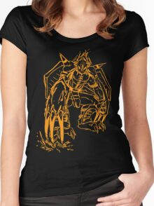 Wild Wargreymon - Color Ink Women's Fitted Scoop T-Shirt