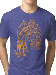 Wild Wargreymon - Color Ink Tri-blend T-Shirt