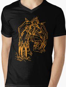 Wild Wargreymon - Color Ink Mens V-Neck T-Shirt