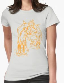 Wild Wargreymon - Color Ink Womens Fitted T-Shirt