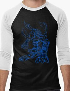 Wild Metalgarurumon - Color Ink Men's Baseball ¾ T-Shirt