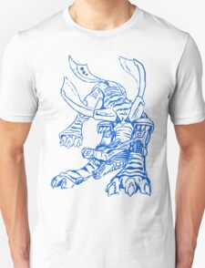 Wild Metalgarurumon - Color Ink T-Shirt