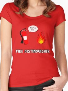 Fire Distinguisher  Women's Fitted Scoop T-Shirt
