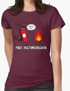 Fire Distinguisher  Womens Fitted T-Shirt