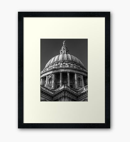 Saint Paul's Cathedral 1 B&W Framed Print