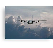 C130-Hercules ....In Trail Canvas Print
