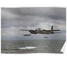 DH Mosquito - low level strike Poster