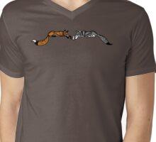 Fox & Wolf Mens V-Neck T-Shirt